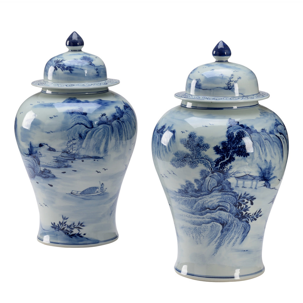 Wildwood Blue June Temple Jar Set of 2