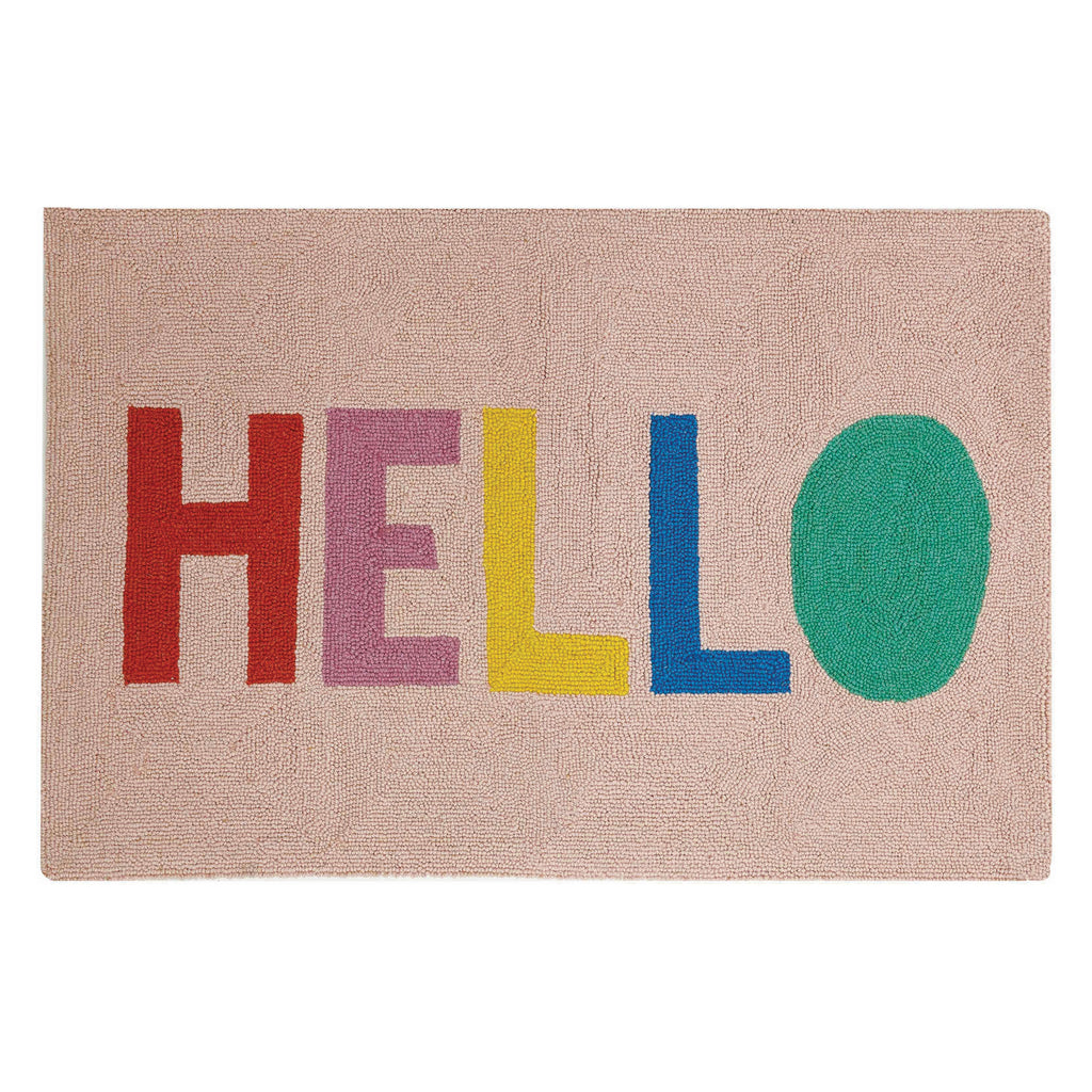 Ampersand Hello Hook Rug