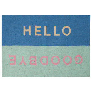 Ampersand Hello Goodbye Hook Rug