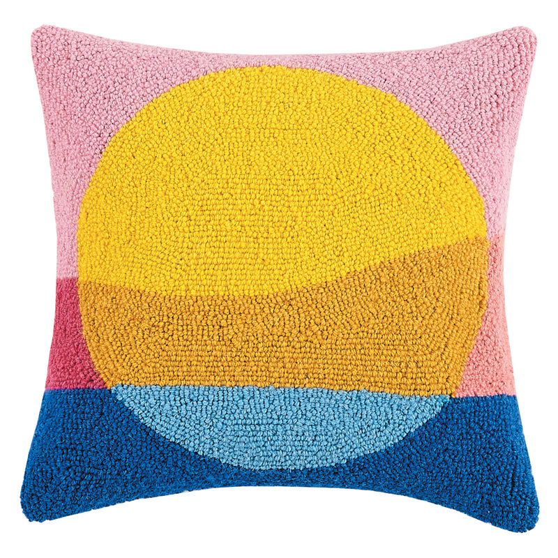 Ampersand Sunset Hook Throw Pillow