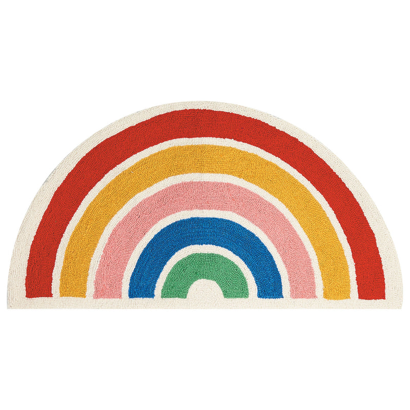 Ampersand Shaped Rainbow Hook Rug