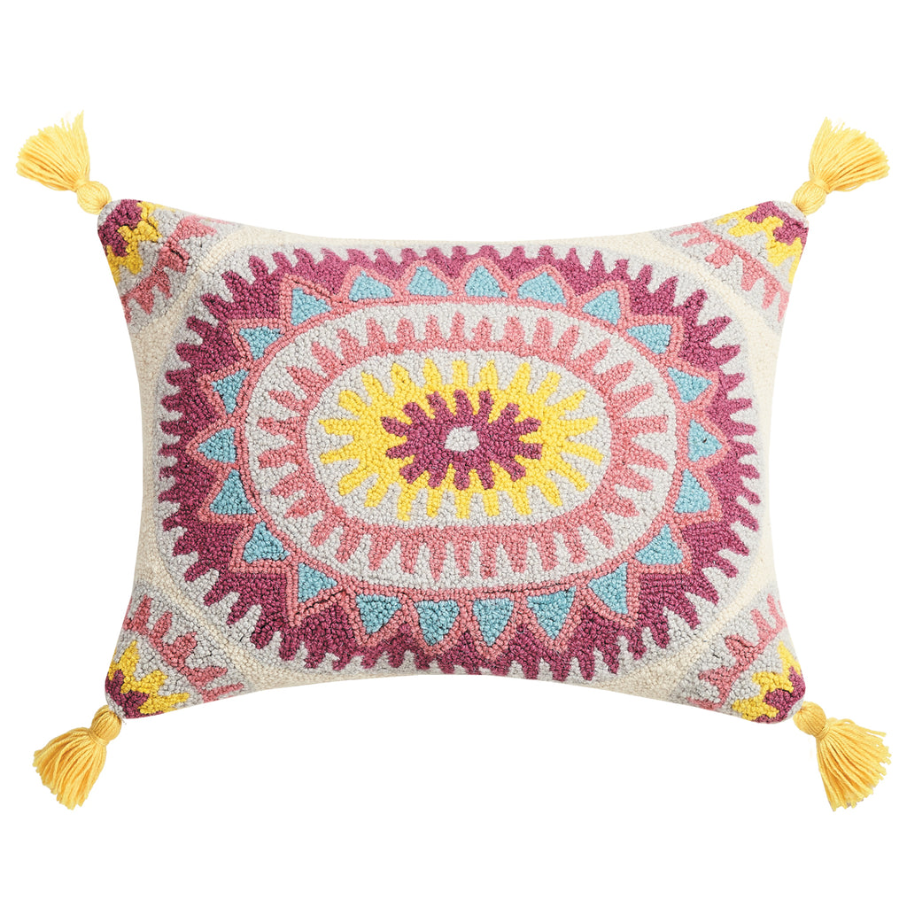 Justina Blakeney Sunflower Hook Throw Pillow