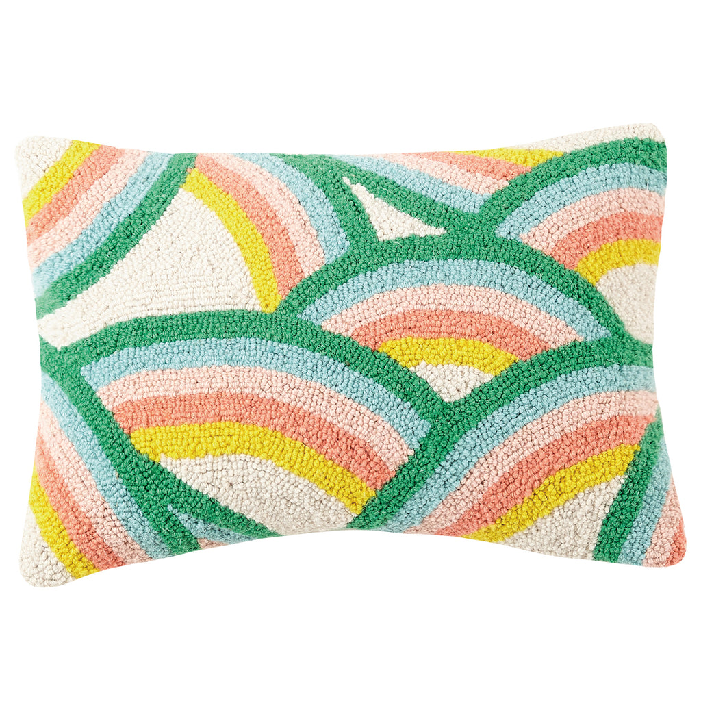 Oh Joy Dancing Rainbows Hook Throw Pillow