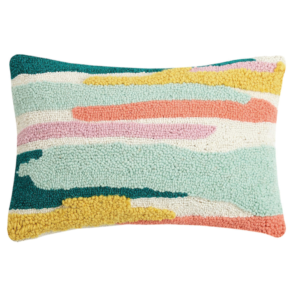 Oh Joy Abstract Fields Hook Throw Pillow