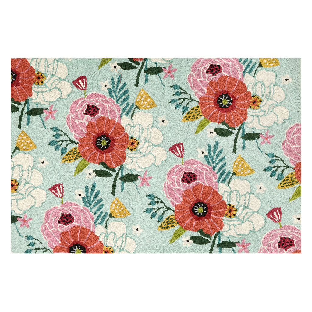 Suzanne Nicoll Chic Blooms Hook Rug