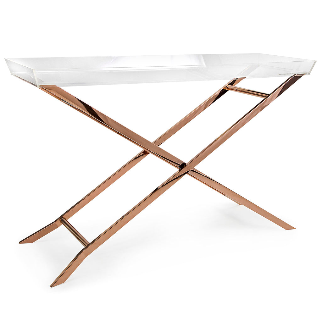 Keegan Acrylic Tray Console Table