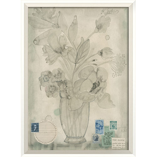 Flowers The Earth Parallel Framed Print