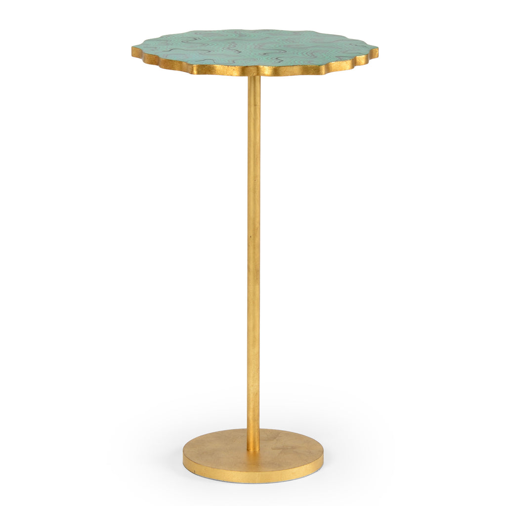 Chelsea House Malachite Side Table