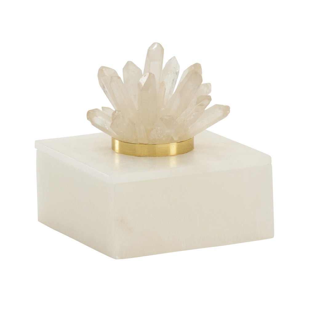 Chelsea House Albaster & Crystal Box