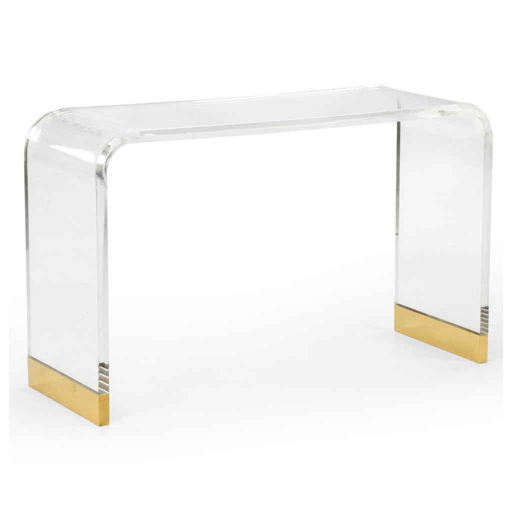 Chelsea House Acrylic Waterfall Console Table
