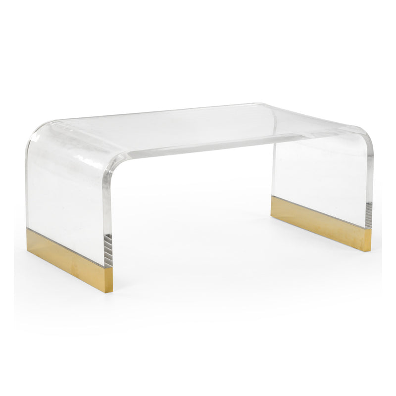 Chelsea House Acrylic Waterfall Coffee Table