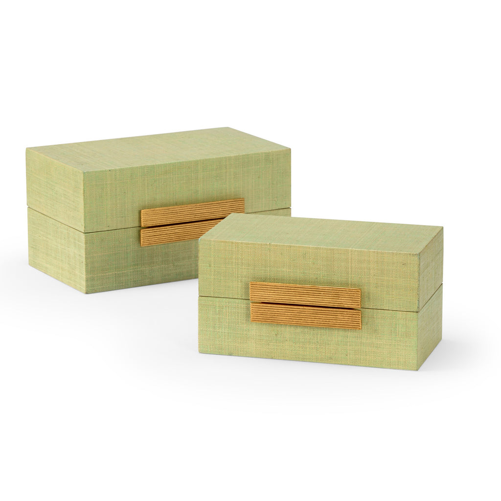 Chelsea House Raffia Box Set of 2