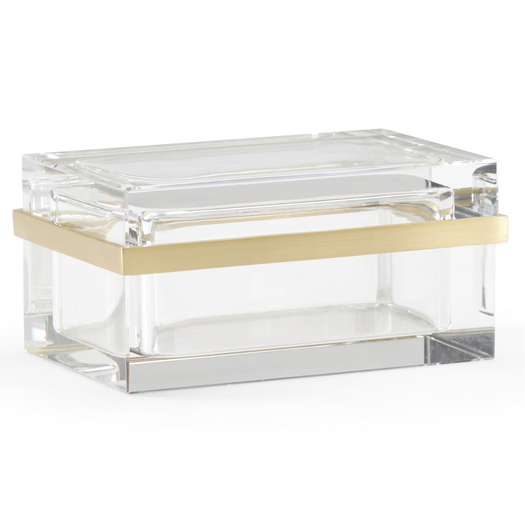 Chelsea House Crystal Rectangular Jewelry Box