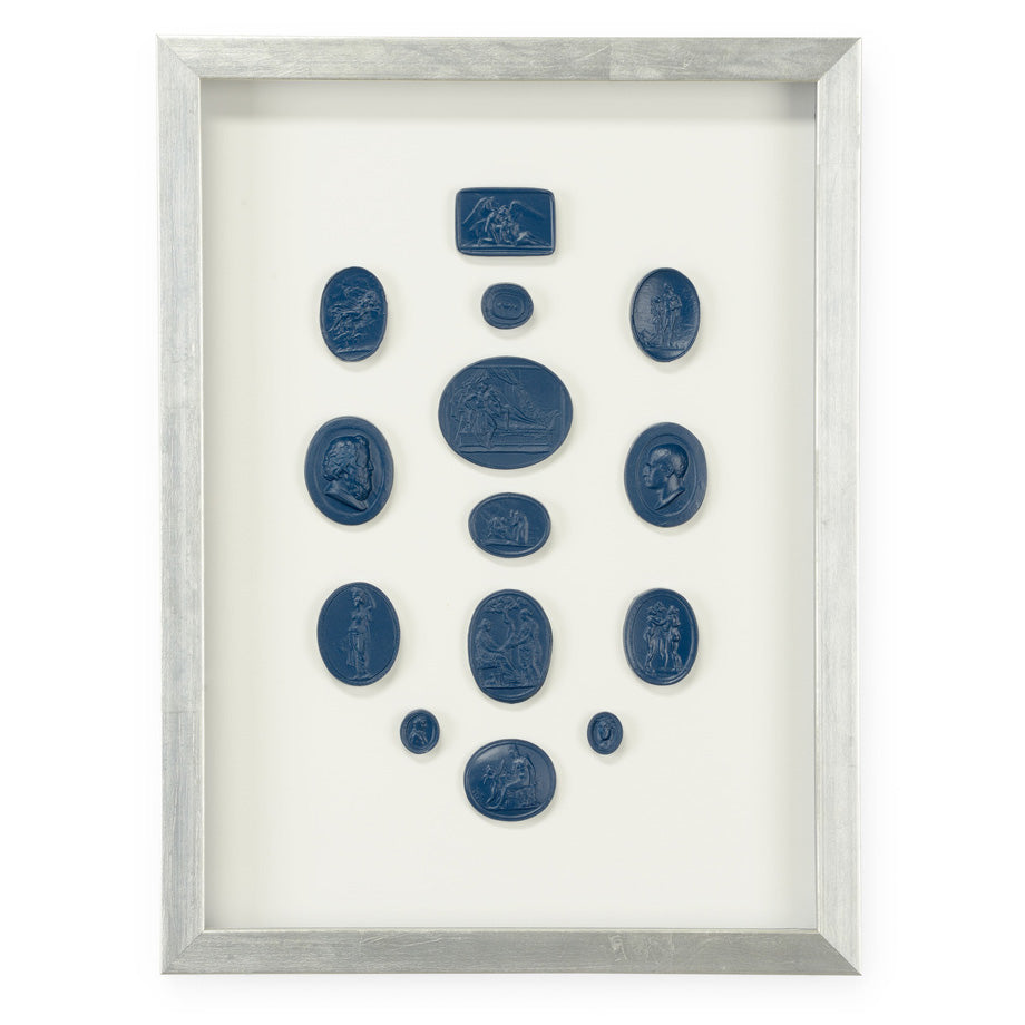 Chelsea House Intaglios Blue I Framed Wall Art