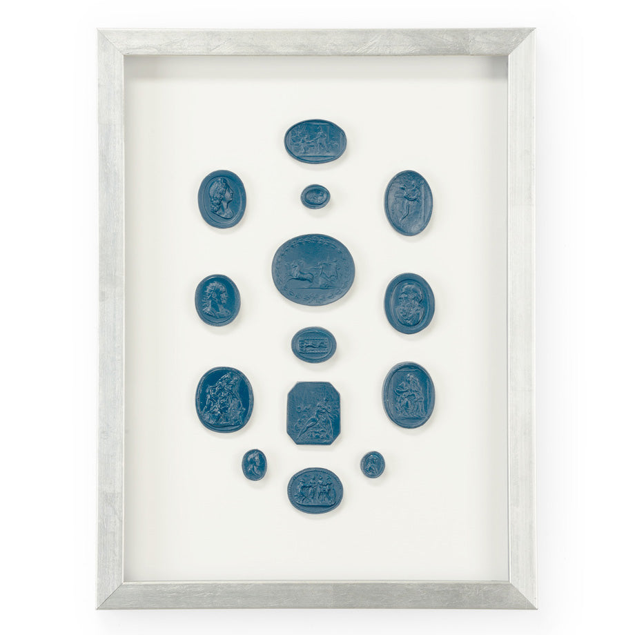 Chelsea House Intaglios Blue II Framed Wall Art
