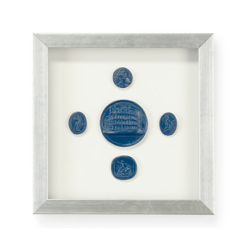 Chelsea House Intaglios Blue III Framed Wall Art
