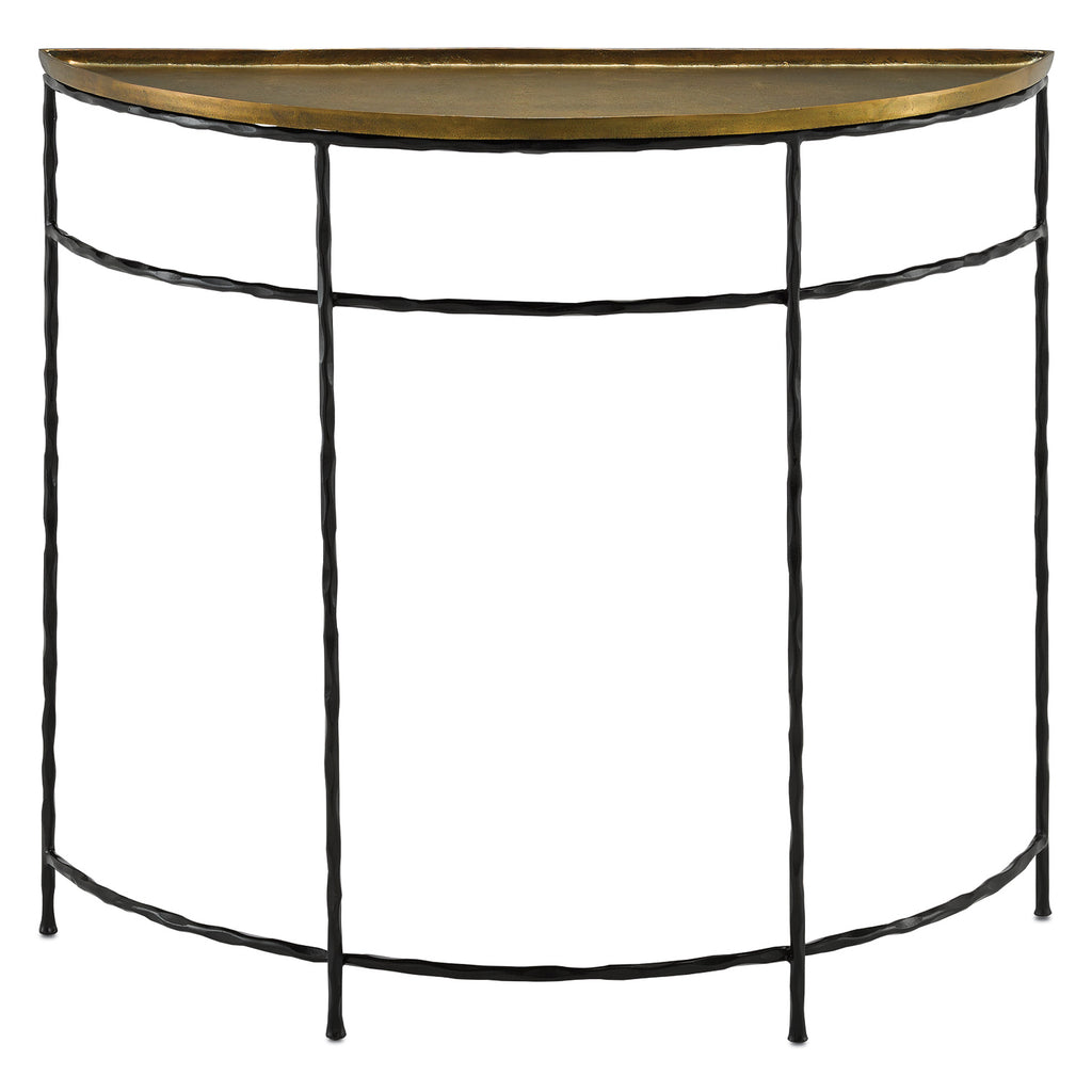 Currey & Co Boyles Demilune Console Table