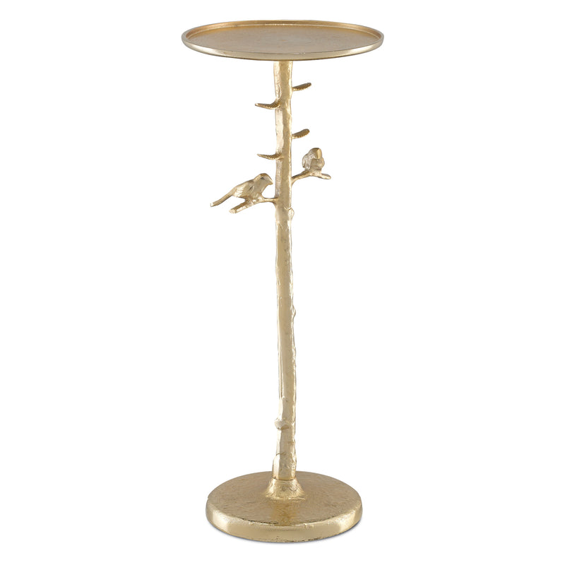 Currey & Co Piaf Gold Drinks Table