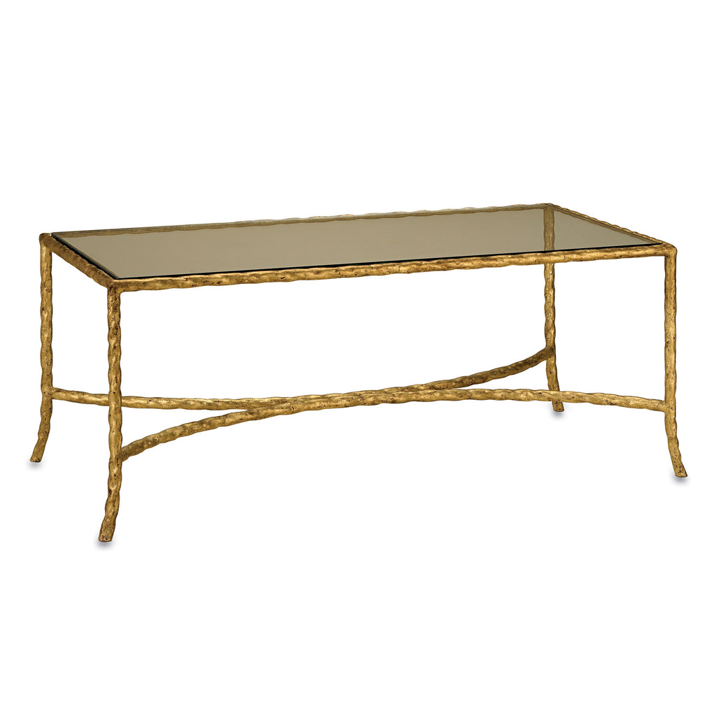 Currey & Co Gilt Twist Coffee Table