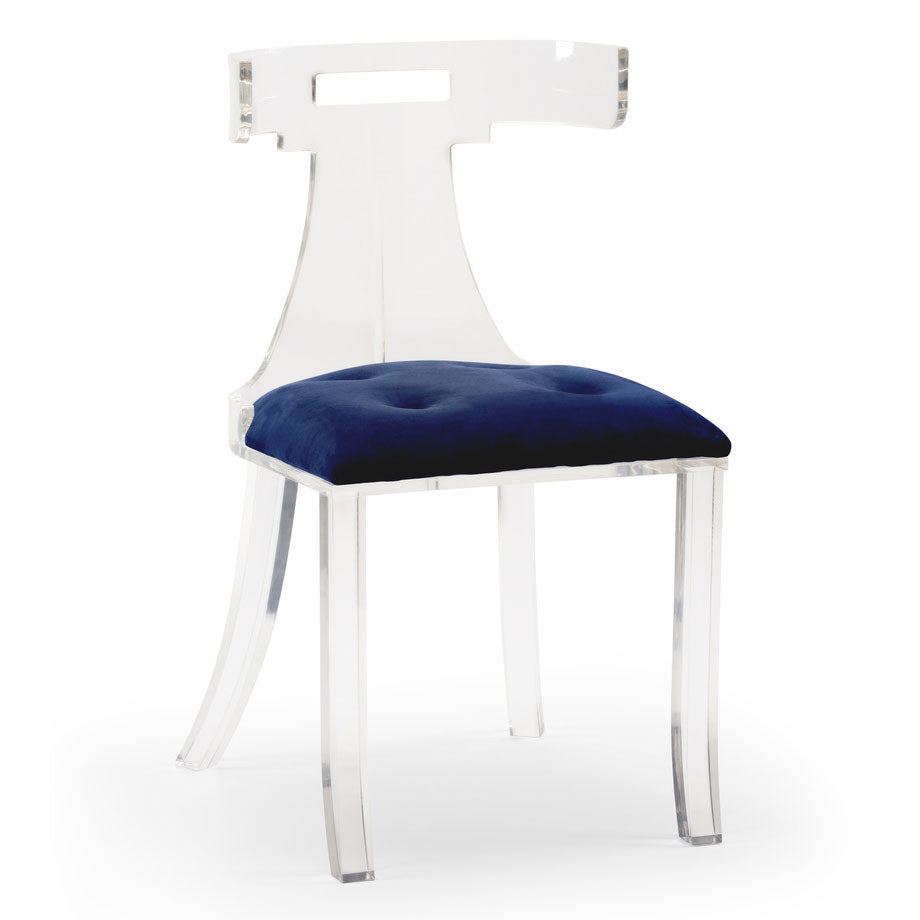 Wildwood Elsa Blue Velvet Chair