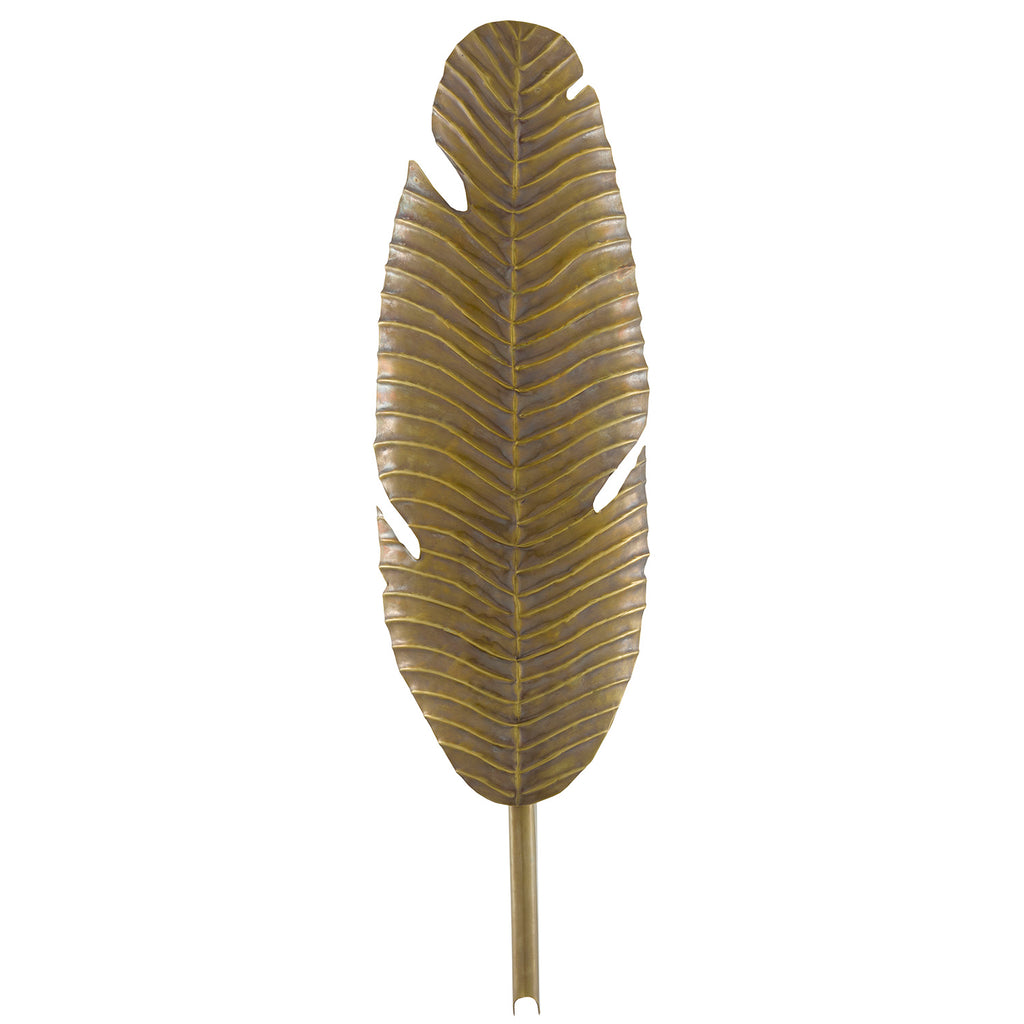 Currey & Co Tropical Leaf Wall Sconce