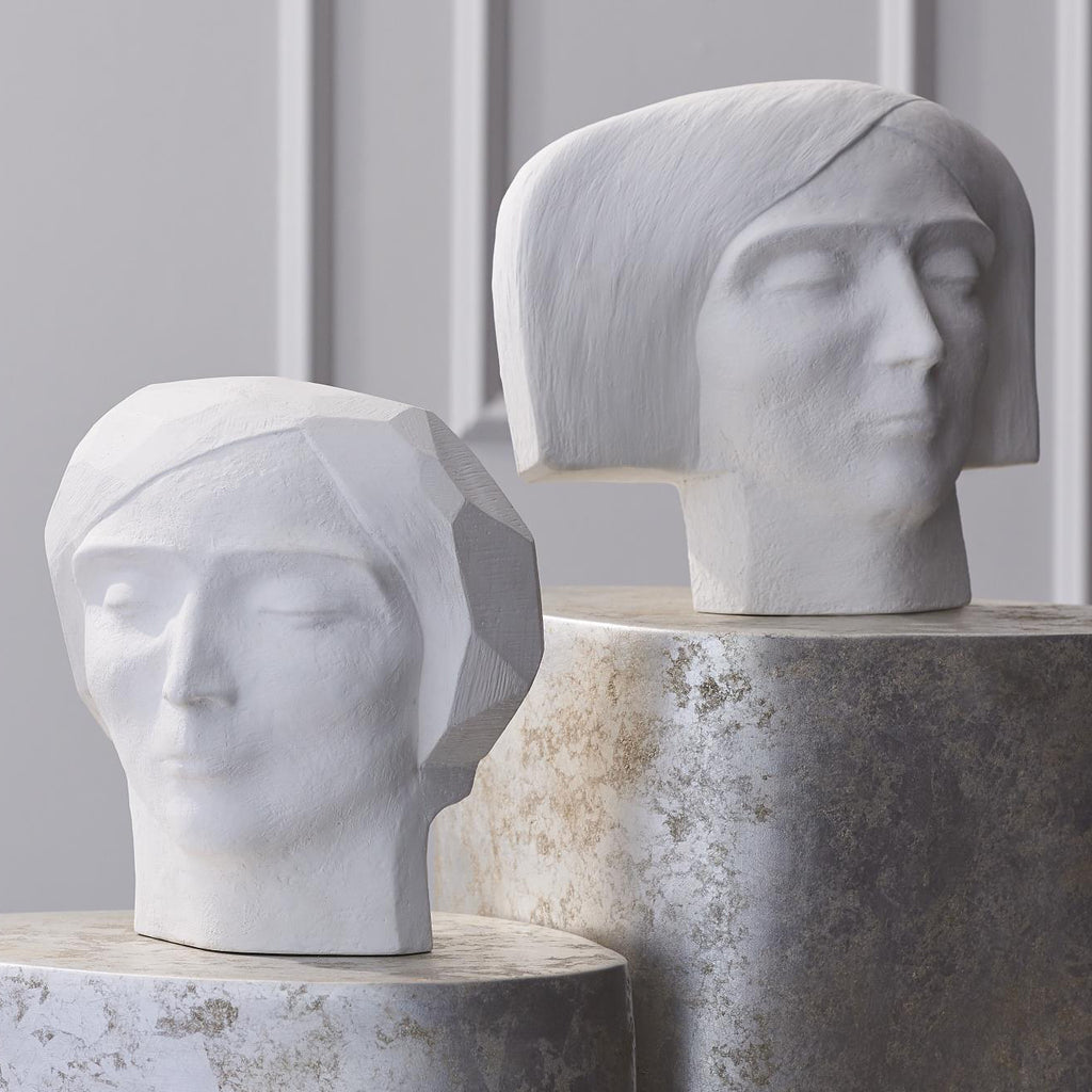Global Views Plaster Faceted Bust