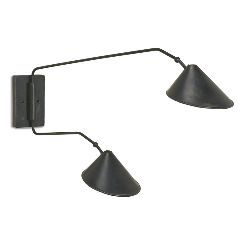 Currey & Co Serpa Double Wall Sconce