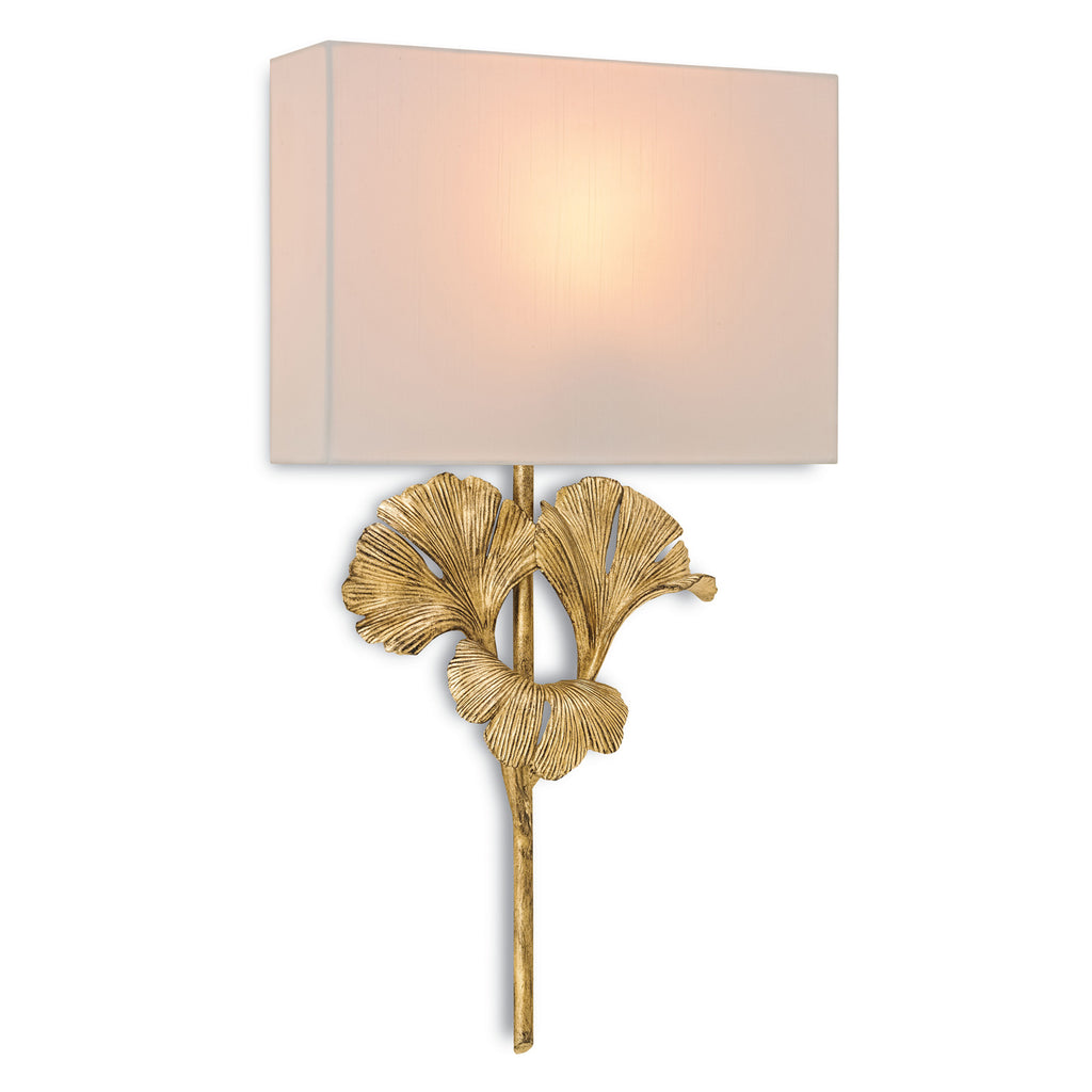 Currey & Co Gingko Wall Sconce