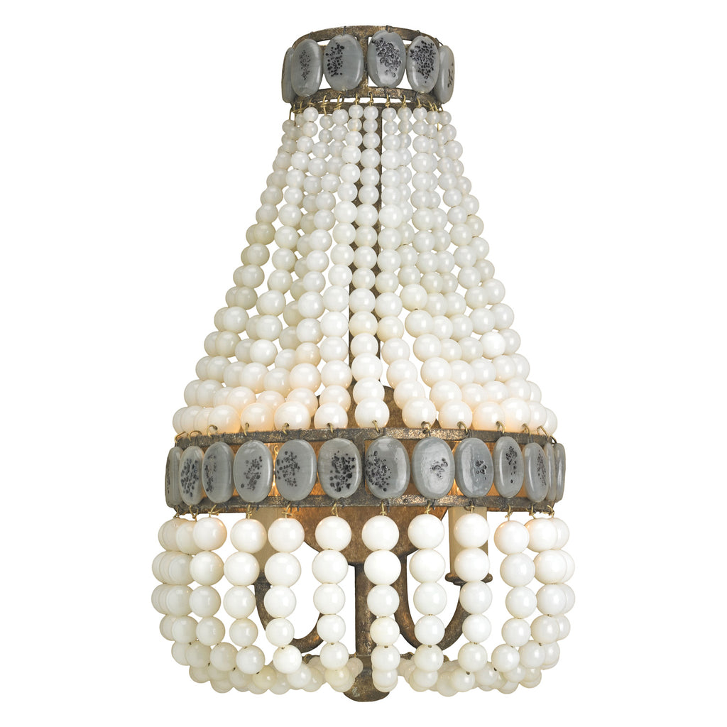 Currey & Co Lana Cream Wall Sconce