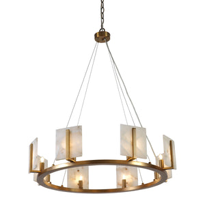 Jamie Young Halo Antique Brass Large Chandelier