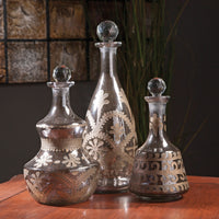 Maple Glass Bottle Set of 3