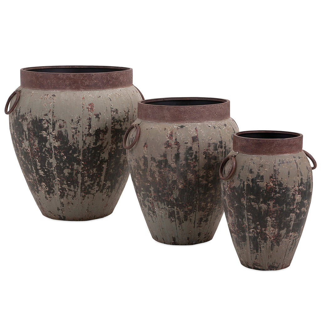 Hemlock Rustic Planter Set of 3