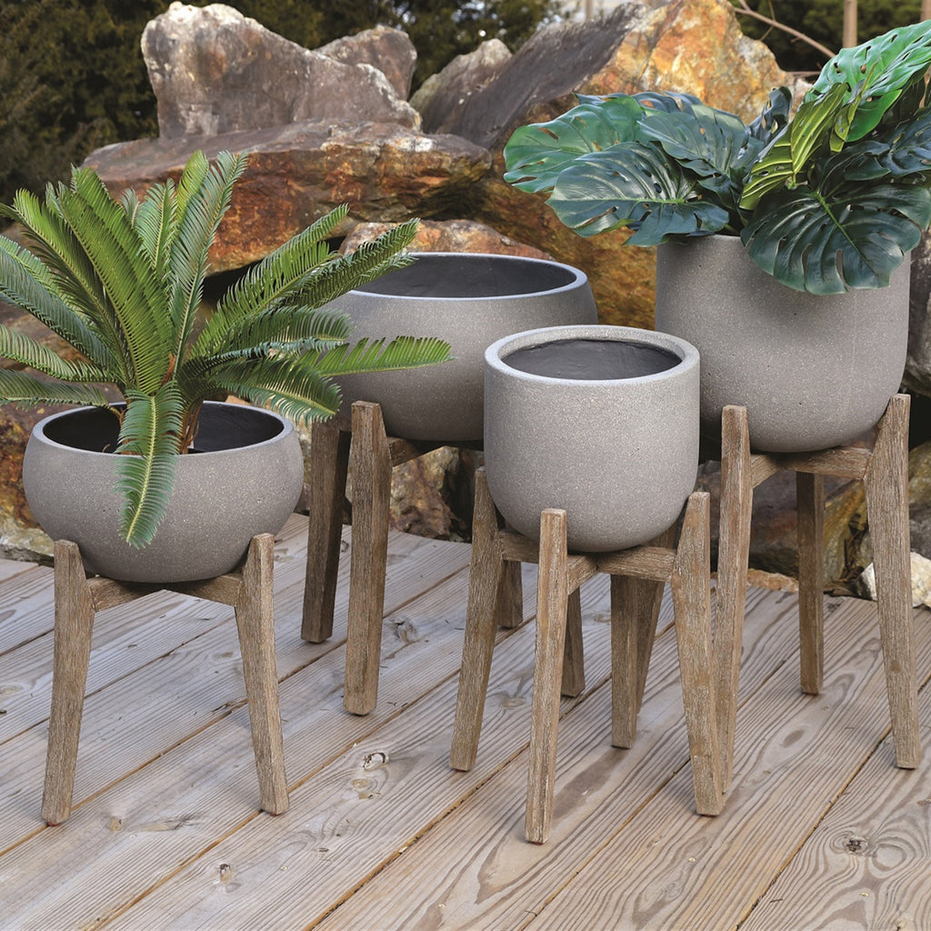 Portland Round Indoor/Outdoor Planter Set of 3