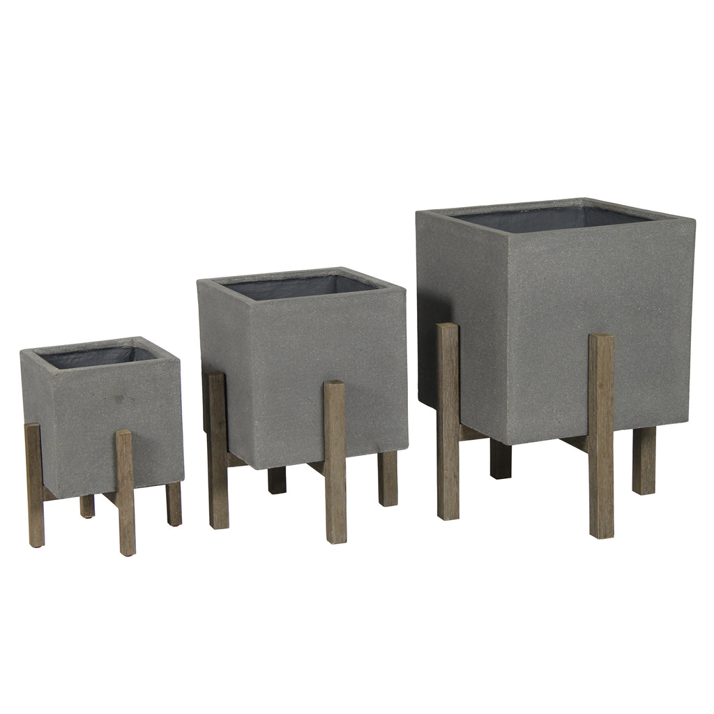 Portland Square Indoor/Outdoor Planter Set of 3