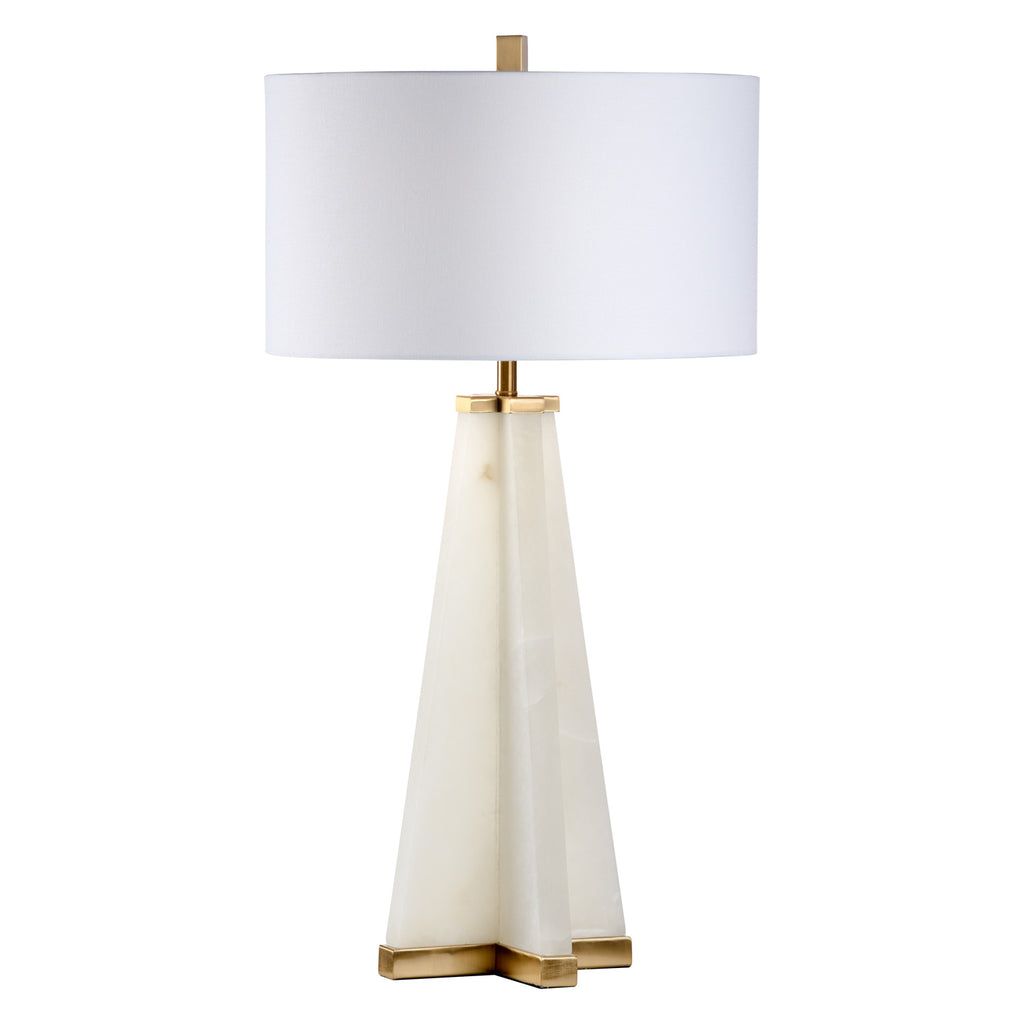 Chelsea House Alabaster Pyramid Table Lamp