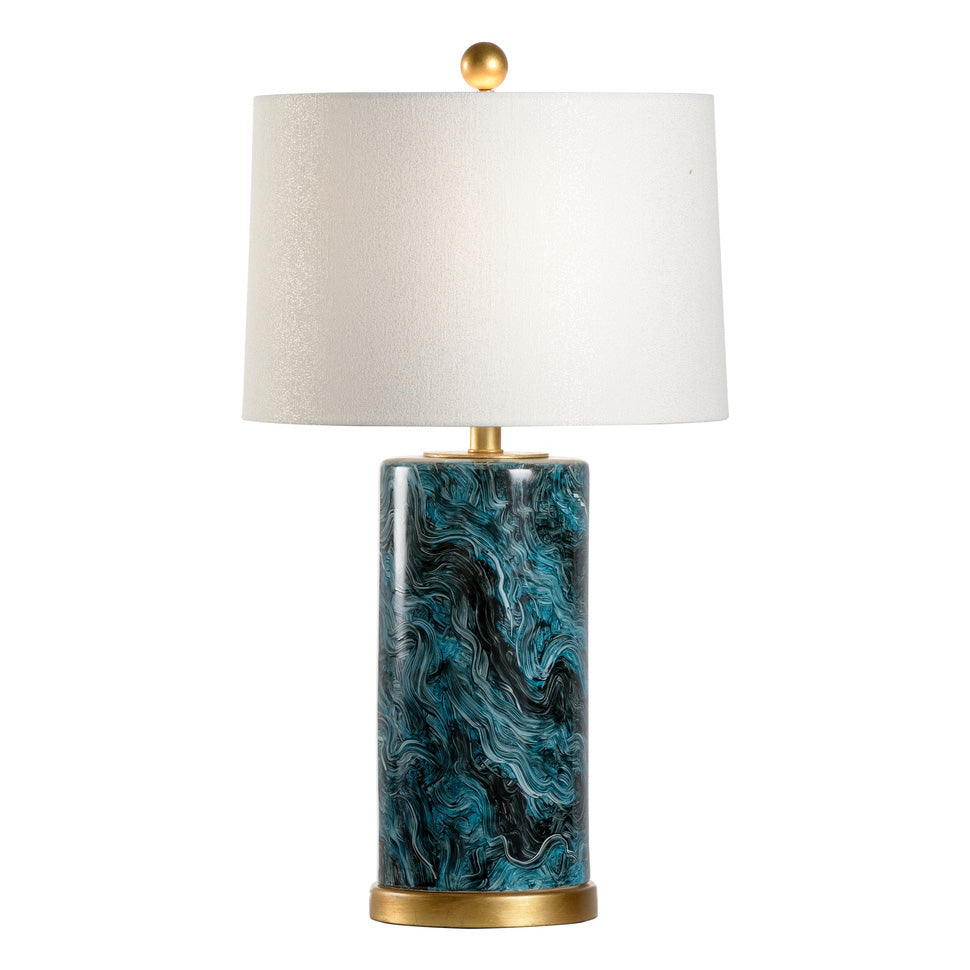 Chelsea House Malachite Cylinder Table Lamp