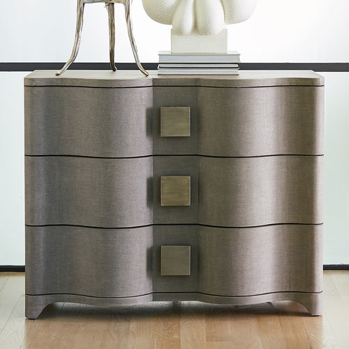 Studio A Toile Linen Gray Chest