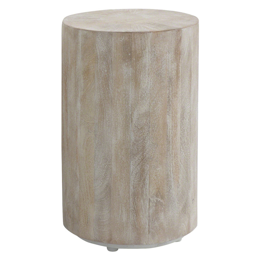 Studio A Driftwood Drum Side Table