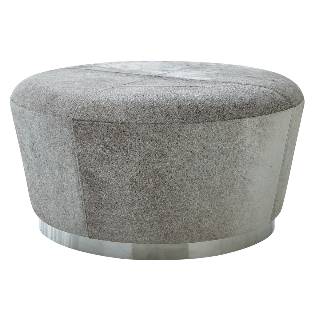 Studio A Tapered Grey Hide Ottoman