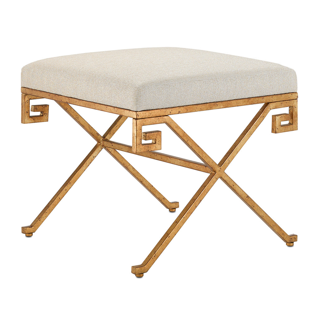 Currey & Co Circe Sand Ottoman