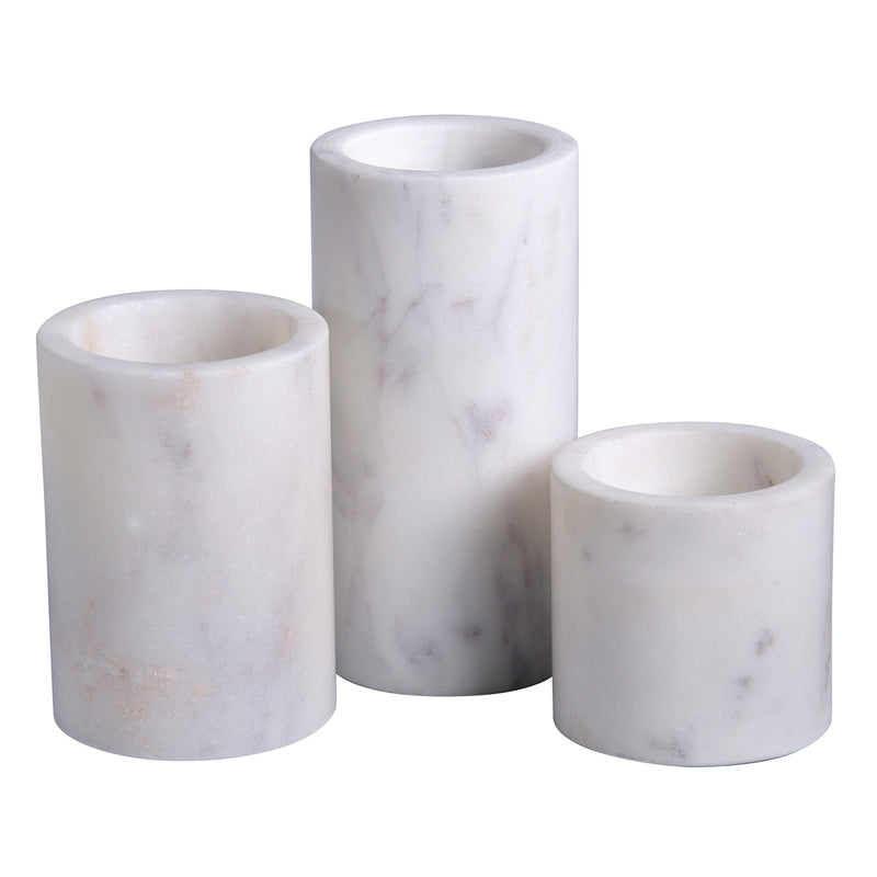 Thurman Marble Votive Candle Holder Set of 3