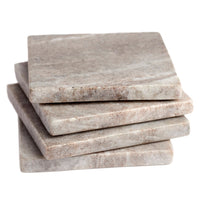 Zion Marble Square Coaster Set of 8