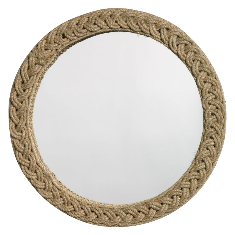Jamie Young Braided Round Jute Wall Mirror