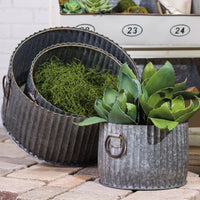 Kalin Galvanized Planter Set of 3