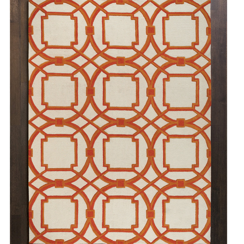 Global Views Arabesque Hand Tufted Rug Paynes Gray