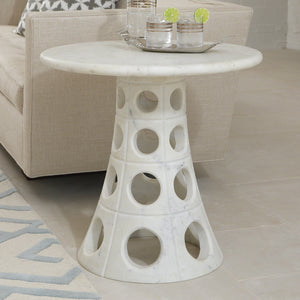 Global Views Taper Circle Side Table