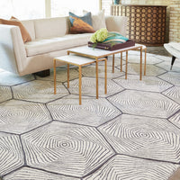 Global Views Hex Swirl Hand Tufted Rug