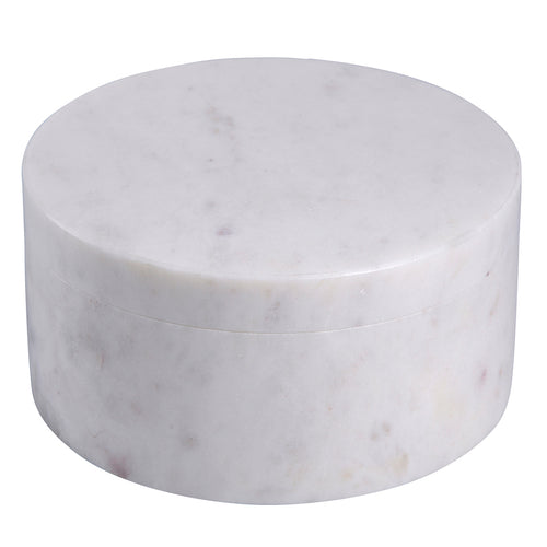 Reed Marble Round Box