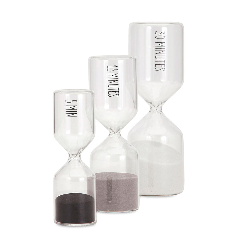 Hot Minute Hourglass Set of 3