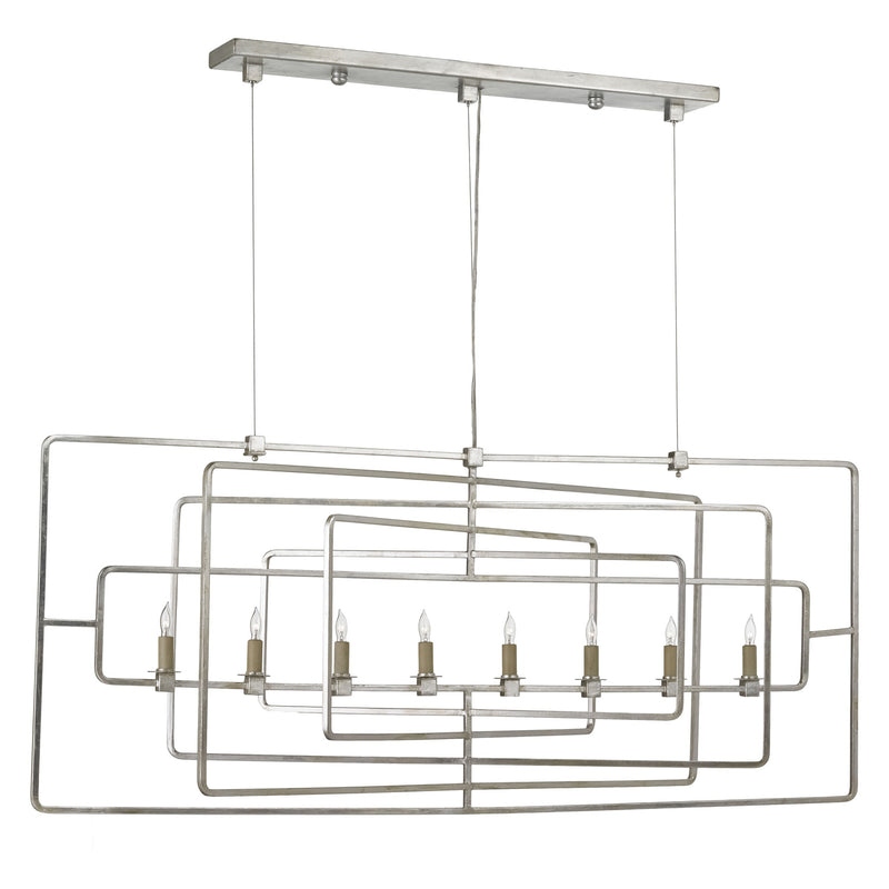 Currey & Co Metro Rectangular Chandelier